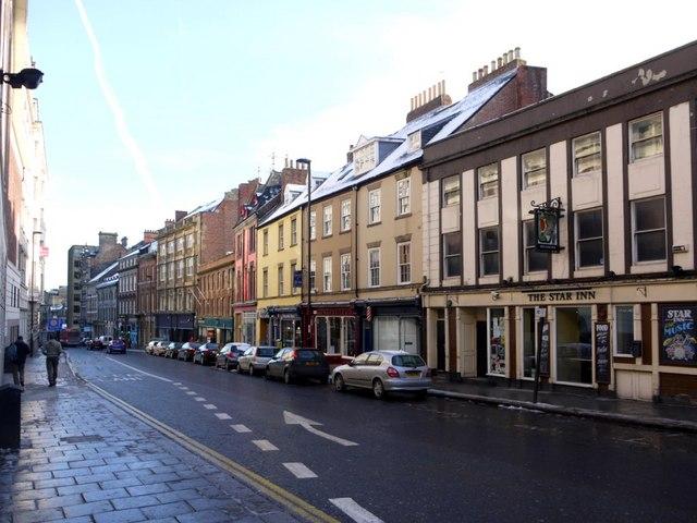 Westgate Road, east of Clayton Street