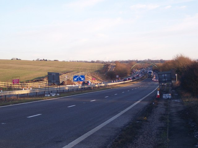 A2 Dual Carriageway heading towards Dover