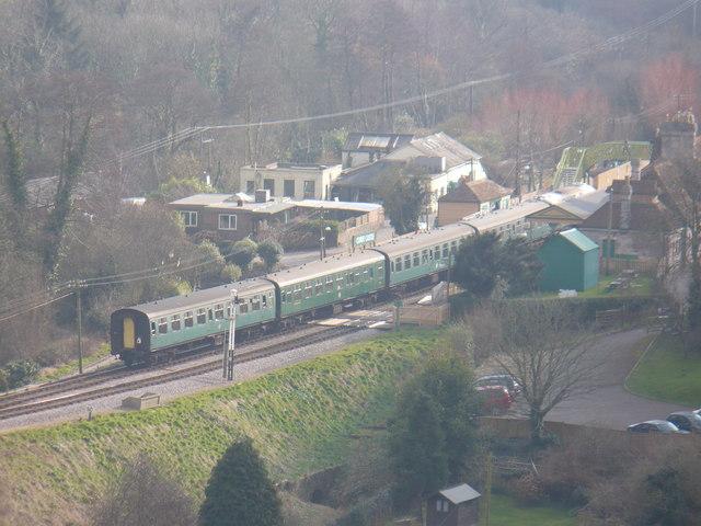 Train from Corfe Castle