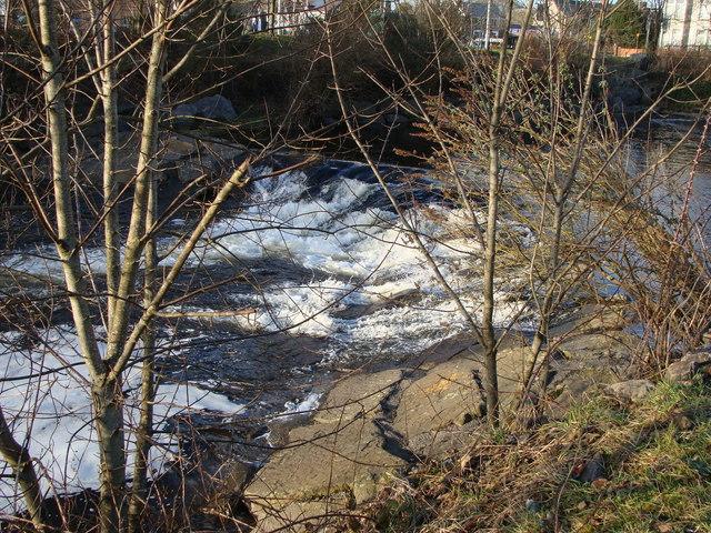 Weir on the River Aman, Ammanford