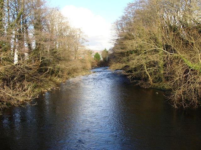 River Aman looking upstream from the road bridge