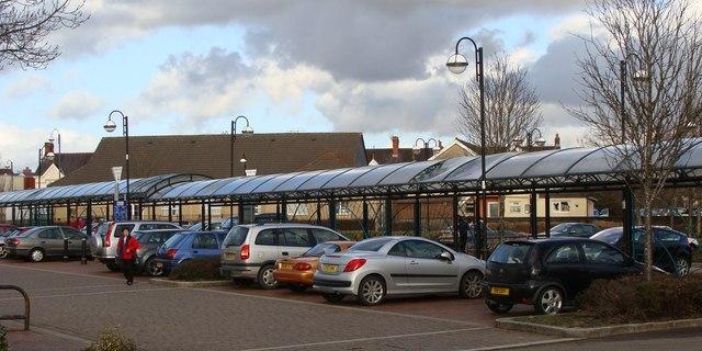 Arcade in the car park, Ammanford