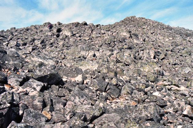 Boulder field near the summit of Schiehallion