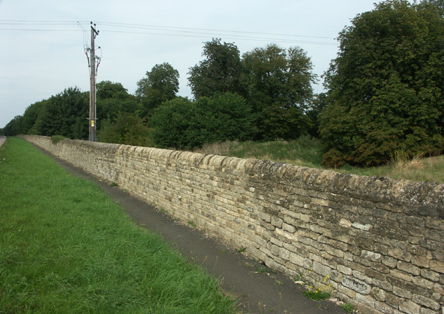 Burghley House estate wall