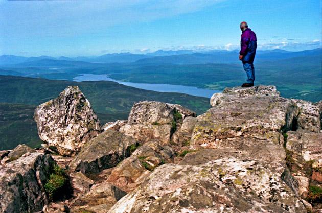 View across Loch Rannoch from the summit of Schiehallion