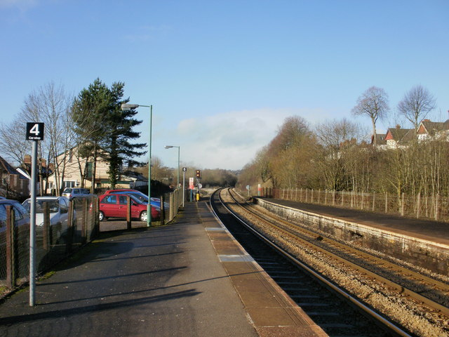 Llandaf Railway Station looking west