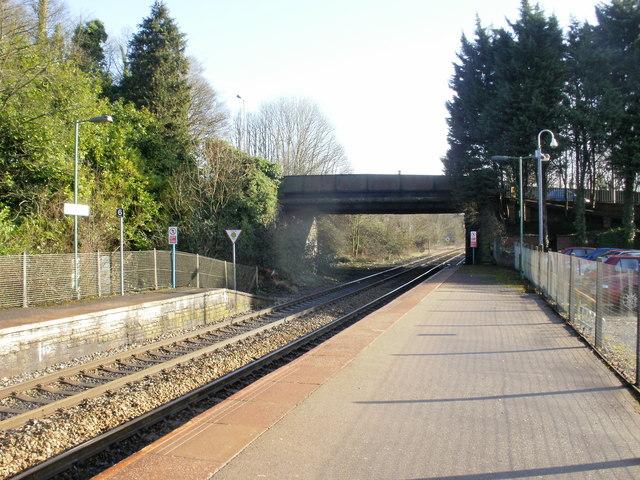 Llandaf Railway Station looking east