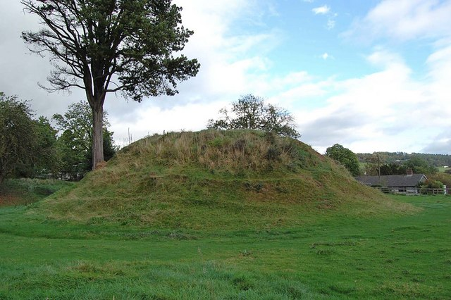 Tump Terret Castle Mound, Trellech, by Clive Perrin