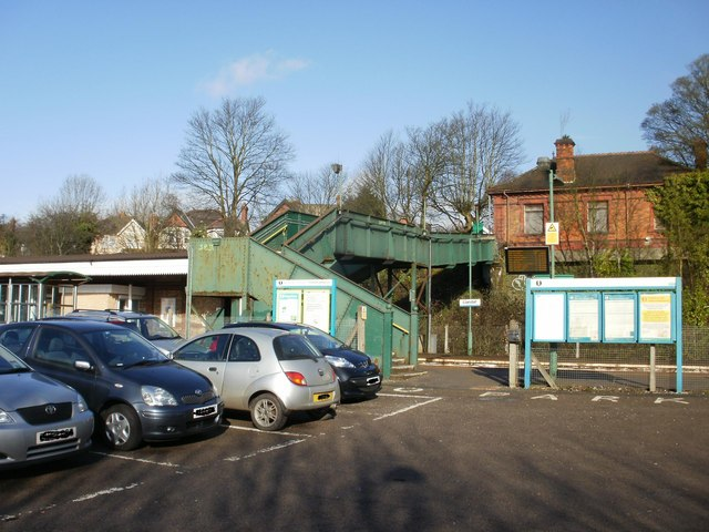 Southern entrance to Llandaf railway station