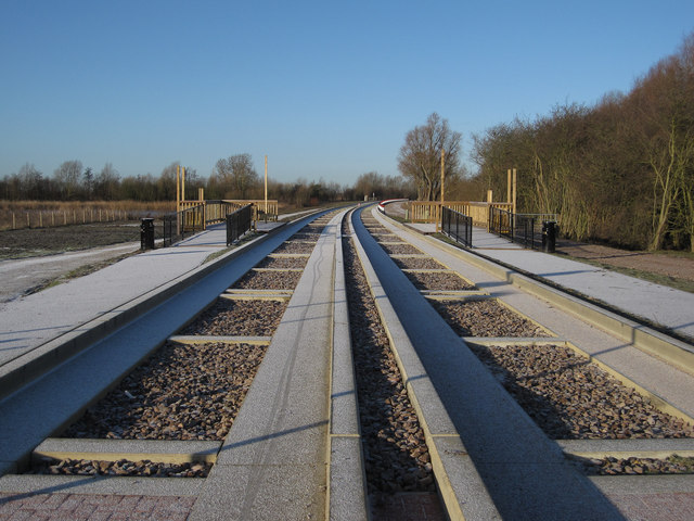 Guided Busway request stop, Fen Drayton Lakes