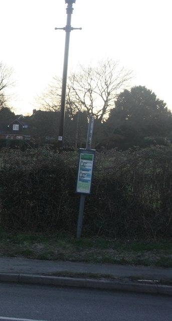 Wonky bus stop, Hartfield