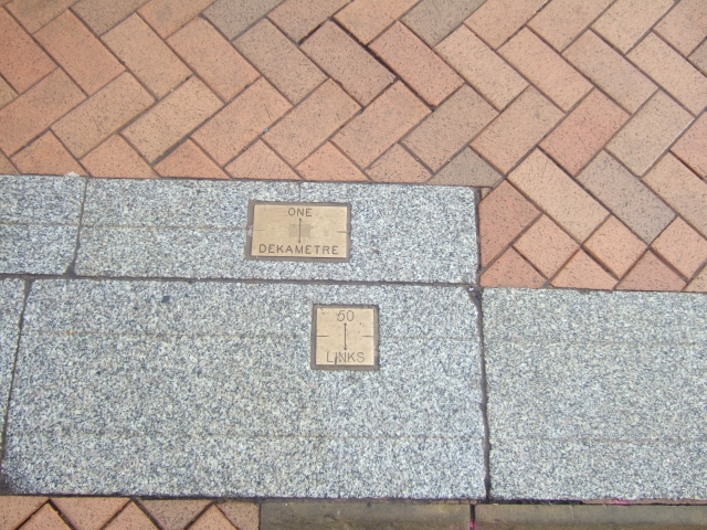 Part of the standard lengths in Victoria Square