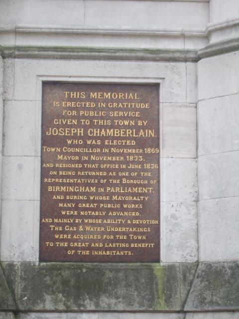 Chamberlain memorial, Birmingham