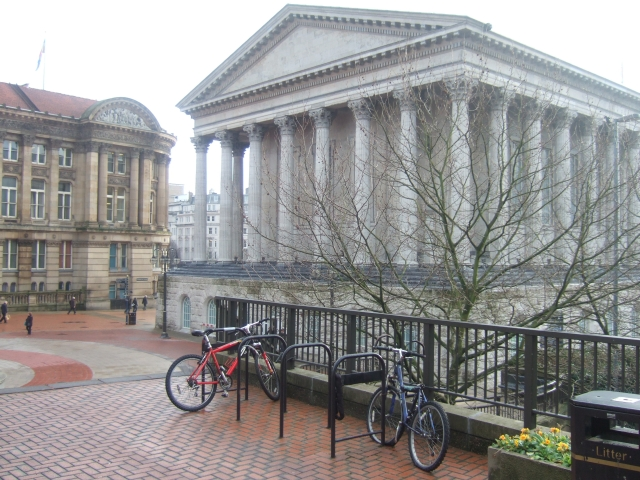 Cycle racks and civic buildings