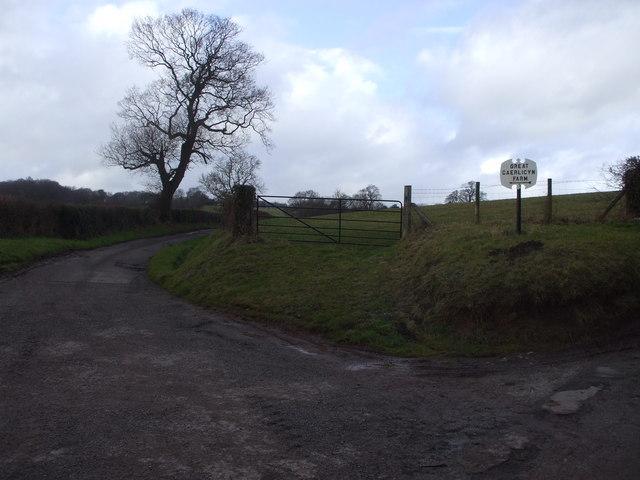 Caerlicken Lane, track to Great Caer Licyn Farm