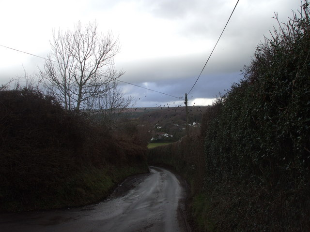 Bowdens Lane, looking towards Parc  Seymour