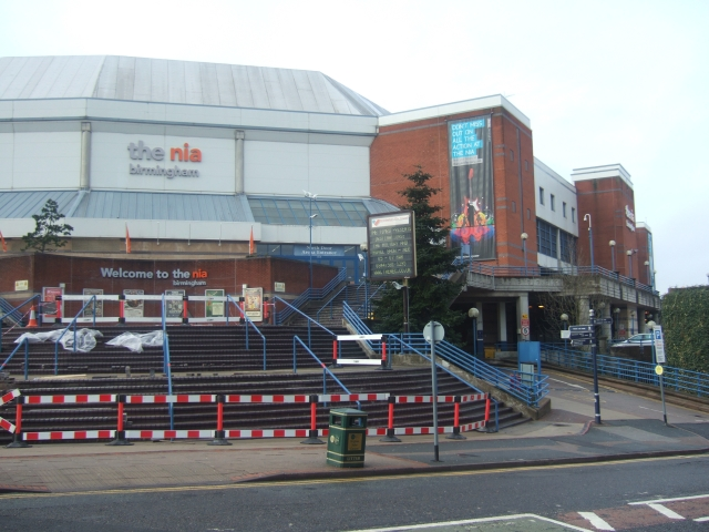 The NIA, with repairs on the steps in progress