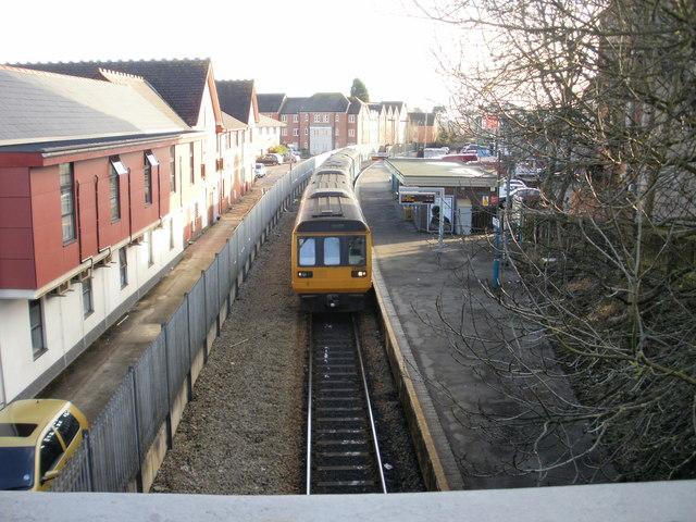 Arriva train in Penarth Station