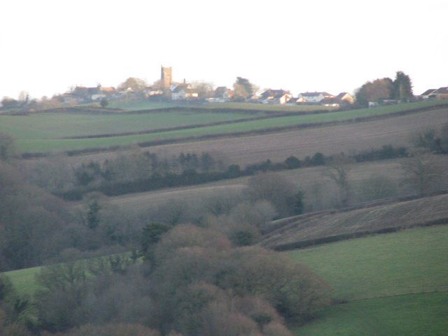 Evening view of Morchard Bishop from above Eastington