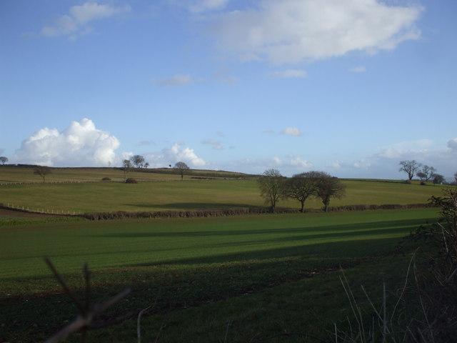 Farmland near Skeviot Farm