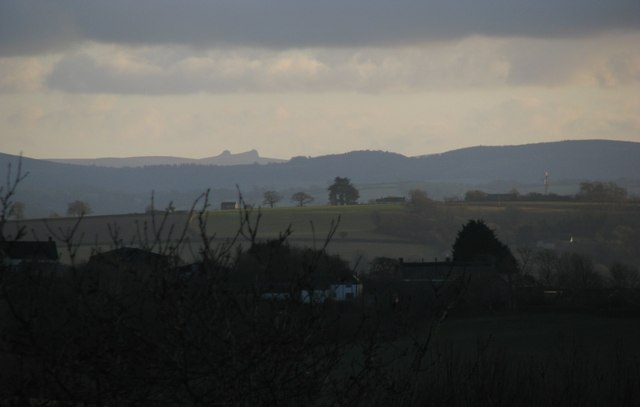 Evening view of Dartmoor from Chillingford