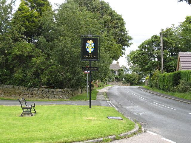 The B6278 road at Edmundbyers