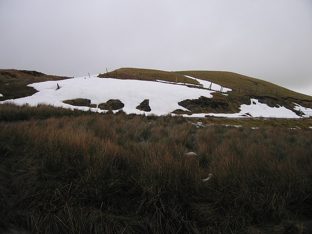 Remnants of snow drift on Waun y Dyffryn
