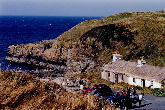 Niarbyl - Thatched cottage and camera crew