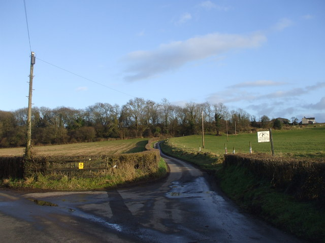 The lane to Upper Grange Farm