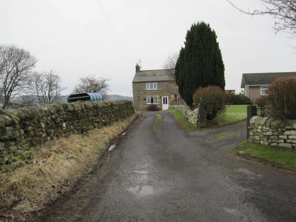 Road and footpath to Reenes