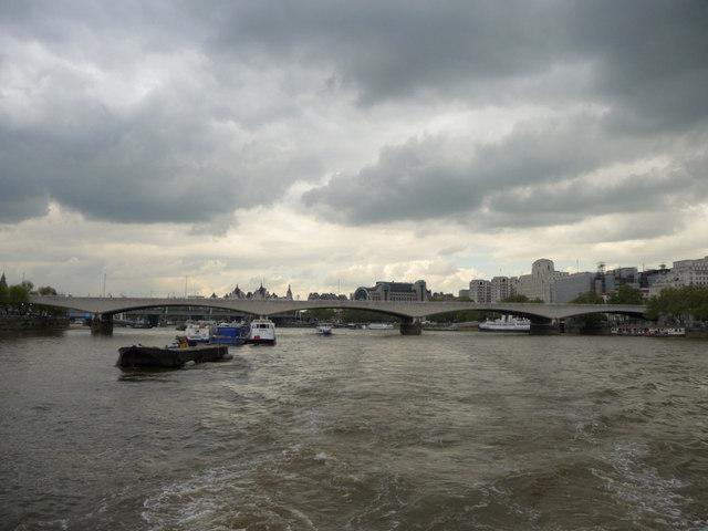 The Thames with Waterloo Bridge