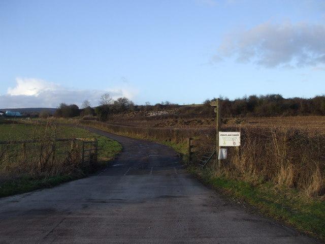 Track to Penylan Farm