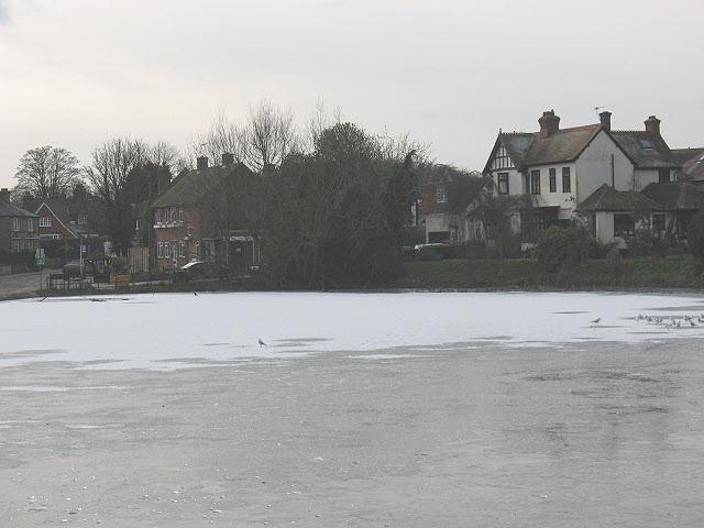 Mere Pond, frozen