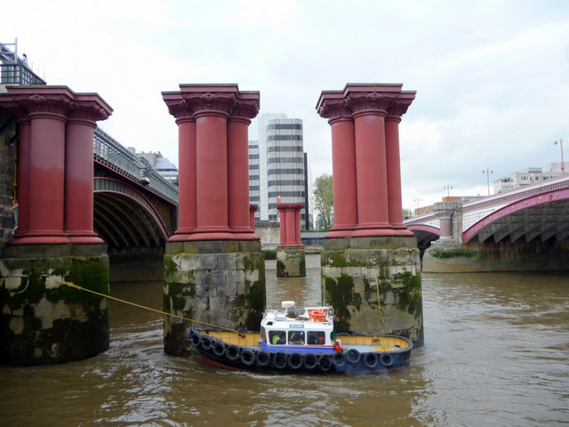 All that remains of old Blackfriars Bridge, London