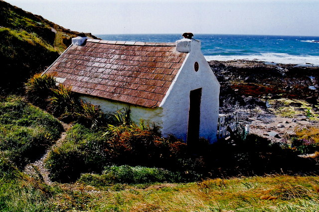 Niarbyl - Footpath and one-room fisherman's cottage