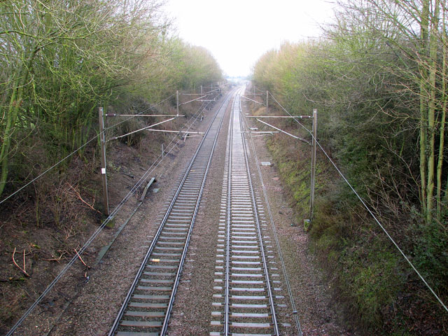 The Norwich to London mainline through Great Moulton