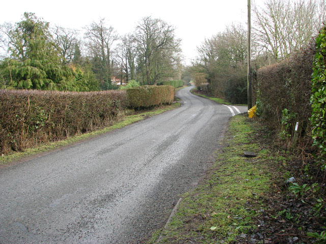View east along Carr Lane