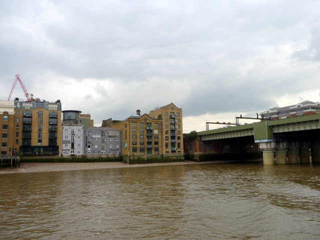 Cannon Street Railway Bridge and the South Bank, London SE1