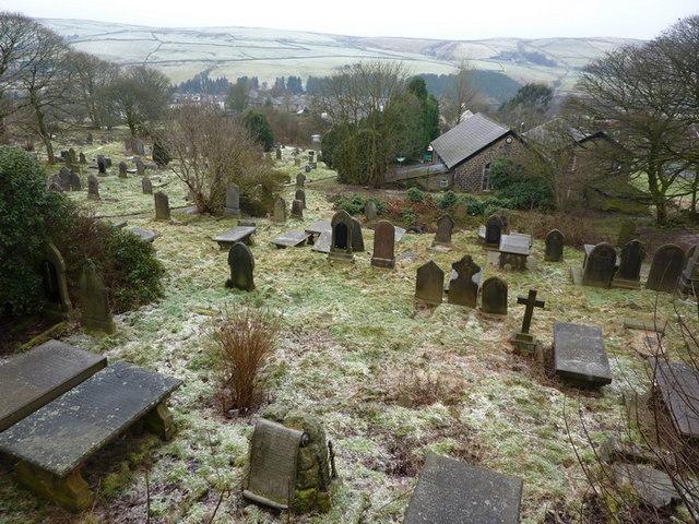 St Mary & All Saints Church, Goodshaw, Graveyard