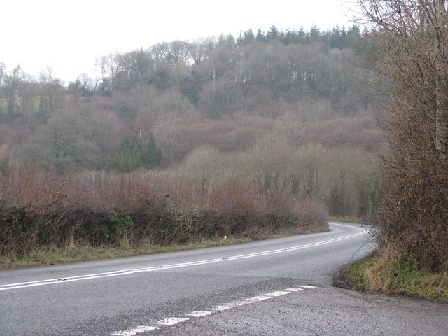 A377 curves away north of Eggesford