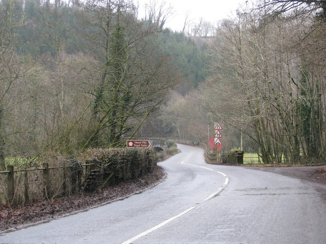 B3226 passes the access to Head Mill Trout Farm