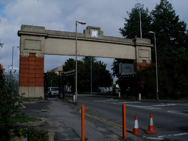 The old Gate Number 10 at Southampton Docks