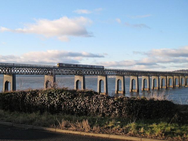 Train on the Tay Bridge