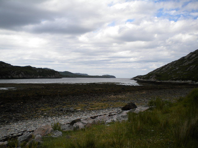 Loch Laxford at low tide.