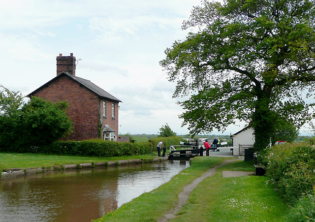Hurleston top lock and cottage, Cheshire