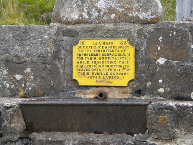 Historic well Durness road (A838)