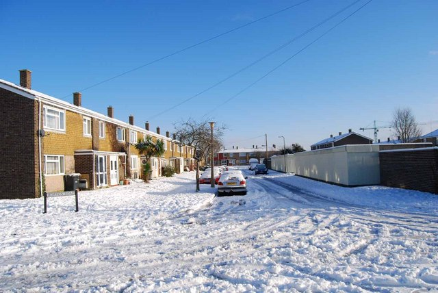 Bridgemary under snow - Horton Road (1)