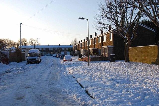 Bridgemary under snow - Horton Road (2)