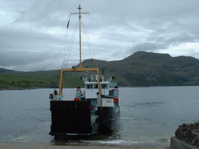 Ferry Docking at Kilchoan Terminal