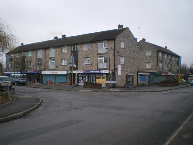 Parade of shops in Madeley